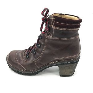 Josef Seibel Ankle Boots Brown Leather Zip 9 - 9.5
